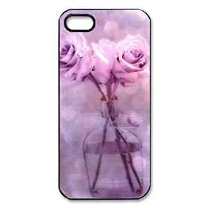Rose Flower Custom Printed Design Durable Case Cover for Iphone 5 5S
