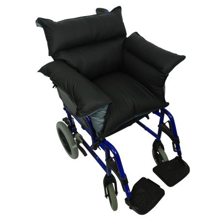 Queraltó - Cubresilla acolchado Saniluxe T/L para silla de ruedas | Cubre silla de ruedas reversible | Relleno de fibra | Impermeable, transpirable e ...