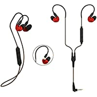 KSCAT Bluetooth Headphones Wireless & Wired 2 in 1 Sports Stereo Earphones with Memory Wire In-Ear Headphones Secure Fit for Workout Running BC05