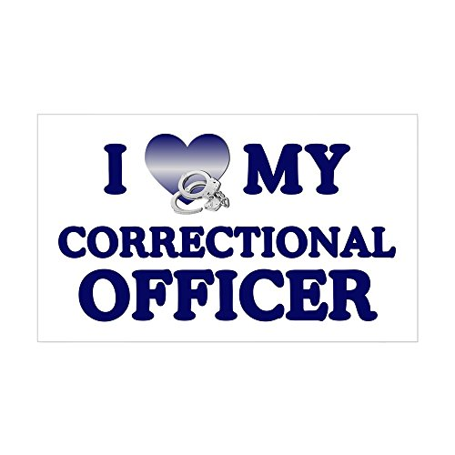 CafePress Love Correctional Officer Rectangle Sticker Rectangle Bumper Sticker Car Decal