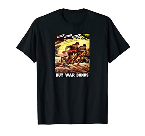 Vintage WWII Military Propaganda Poster T-Shirt
