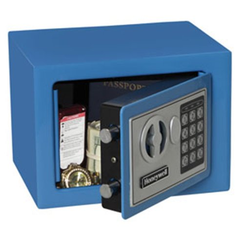 Honeywell Safes & Door Locks 5005B HONEYWELL-5005B Steel Security Safe with Digital Lock, 0.17 Cubic Feet 0.17 Cubic Feet Blue