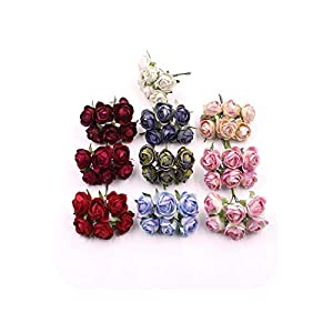 END GAME Mini Artificial Flower Tea Bud Rose Pompadour Wedding Decoration DIY Decorative 19