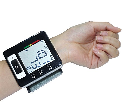 Wrist Blood Pressure Monitor, Euph Digital BP Monitor with Memory Storage, Intelligent LCD Display Automatically Measure Pulse Diastolic Systolic and Shows Hypertension level (Small Blood Pressure Machine compare prices)