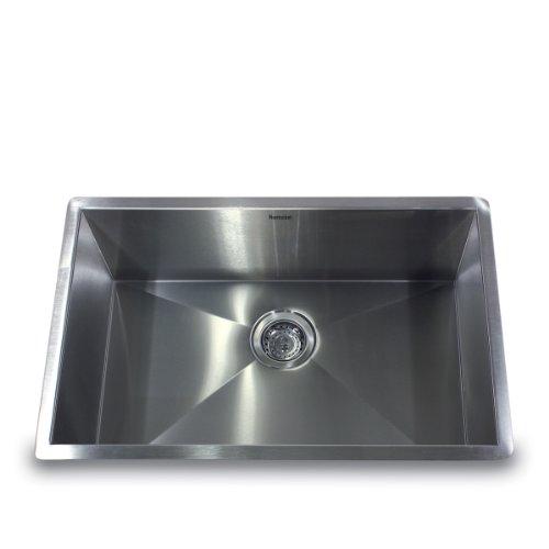 Nantucket Sinks ZR2818 16 28 Inch Pro Series Single Bowl Undermount Kitchen  Sink, Stainless Steel