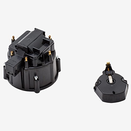 A-Team Performance CR6BK HEI OEM Distributor Cap Rotor and Coil Cover Kit 6 Cylinders Black