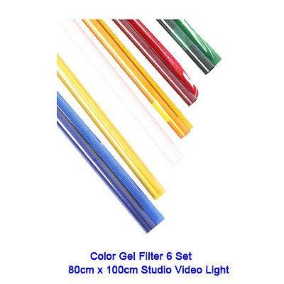 FidgetFidget Color Gel Filter Paper 6 Set 80cm x 100cm for Studio Video Light