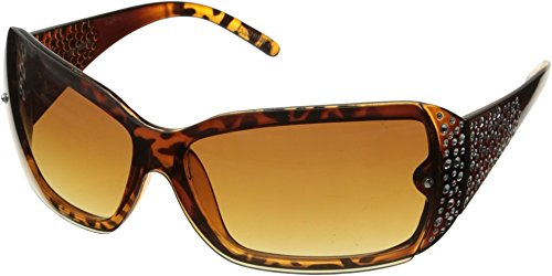 Steve Madden Women's Sydney Shield Sunglasses, Tortoise, 58 - Madden Sunglasses