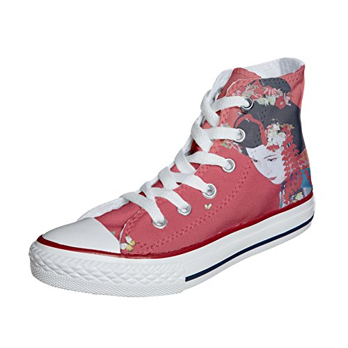 Shoes Custom Converse All Star, personalisierte Schuhe (Handwerk Produkt) Geisha 2