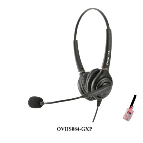 OvisLink Dual Ear Grandstream GXP2160 headset | Noise Cancelling Microphone Headset Compatible with Grandstream High-End IP phones |RJ9 Headset Quick Disconnect Included | with 2 Years Warranty by Ovislink