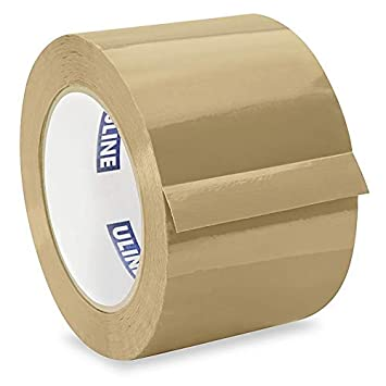 ULINE Industrial Shipping /& Packing Tape 3 x 110 Yards 2.0 Mil 1 Roll Tan