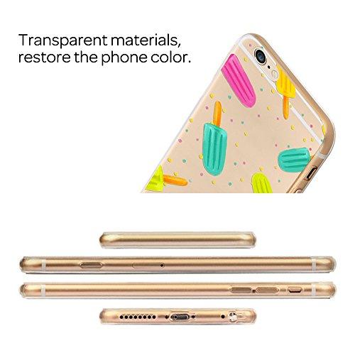 XFAY Handytasche HandyHülle /iPhone 7 Hülle/iPhone SE Schutzhülle/TPU handytasche iphone 7, Transparent TPU Case Silikon Tasche Hülle Silicon Protector Schutzhülle Handyhülle mit für iPhone 7 / 4.7 In