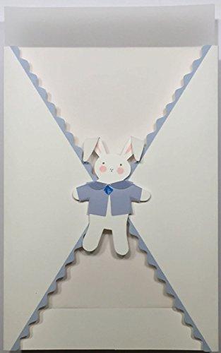 Bunny Rabbit Gatefold Birth Announcement