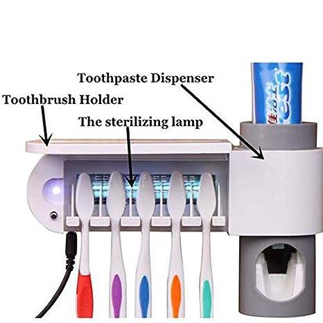 Iaywayii 1 Conjunto Dental UV Ultravioleta del Cepillo de Dientes esterilizador del desinfectante Limpiador Bathrooom Cepillo de Dientes Cepillo de Dientes Titular dispensador