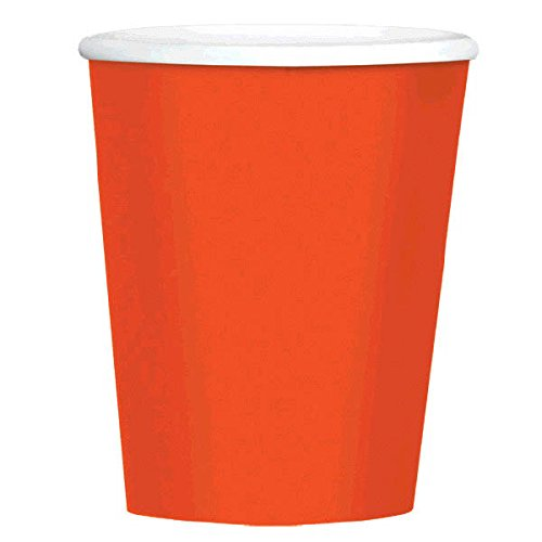 Big Party Pack Paper Coffee Cups | 12 oz.| Orange Peel | Party Supply |480 ct.
