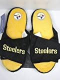 Forever Collectibles Pittsburgh Steelers official NFL 2011 size medium Open Toe Two Tone Hard Sole Slippers