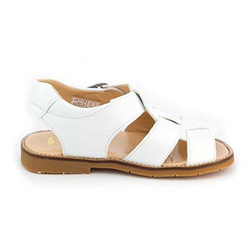 Boni Classic Shoes - Zapatos de cordones de cuero para niña Blanco - blanco