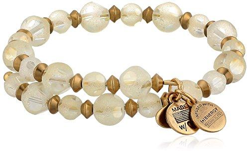 "UPC 886787090430, Alex and Ani Vintage 66 ""Night's Mosaic"" Sky's Blessing Solar Rafaelian Gold Wrap Bracelet"