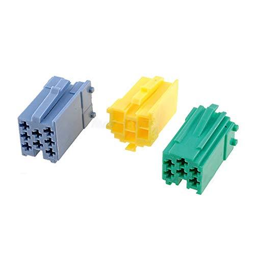 Davitu 3PCS Mini ISO Aux Audio Input Adapter Cable Connectors for VW Becker Fiat Blau-punkt CD Players - (Color Name: 3 connectors)