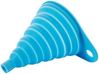 9.5 cm Azul MoGist Embudo Silicona Plegable Embudo Embudo Embudo Botella Embudo Creativo casa Silicona Plegable Embudo