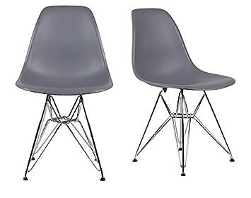 Amazoncom Chelsea Eames Eiffel DSR Metal Base Side Chair