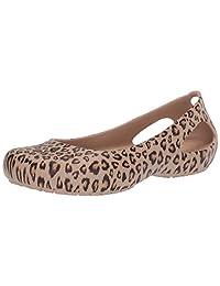 Crocs Kadee Zapatos de Vestir para Mujer con Estampado de Leopardo, Planos, cómodos, Modernos Bailarinas Planas para Mujer