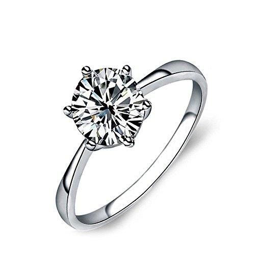 UPC 712320074561, CharmGirl 14K White Gold Plated Sterling Silver Rings