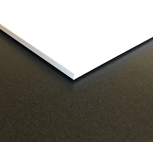 Expanded PVC Sheet  Lightweight Rigid Foam  6mm (1/4 inch)  12 x 12 inches  White  Ideal for Signage, Displays, and Digital/Screen Printing