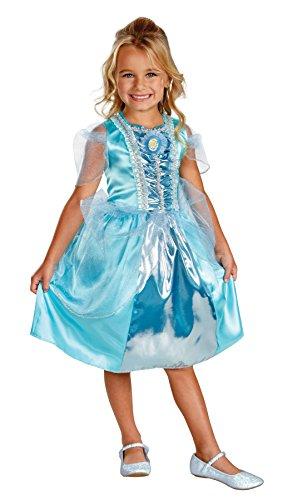 Girls Classic Cinderella Movie Costumes (Cinderella Sparkle Classic Costume - X-Small)