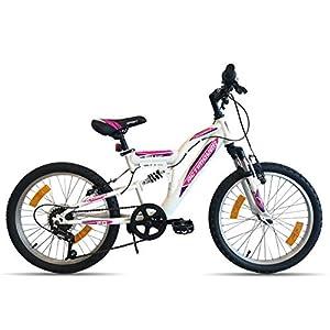 Bicicletta da ragazza, Flamingo Actimover, telaio forcella telescopica, 6 marce per maniglia girevole, mountain bike, 20…