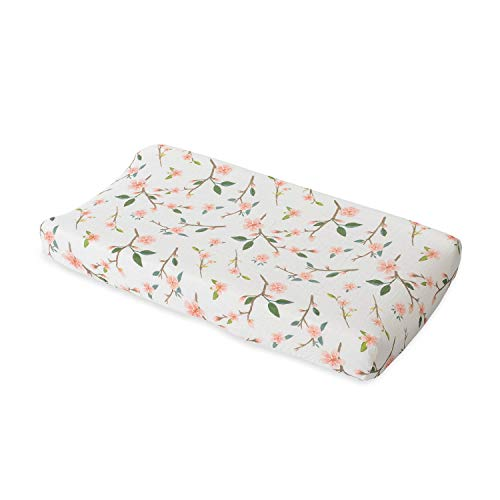 Red Rover Kid Breathable Cotton Muslin Changing Pad Cover – Peach Blossom