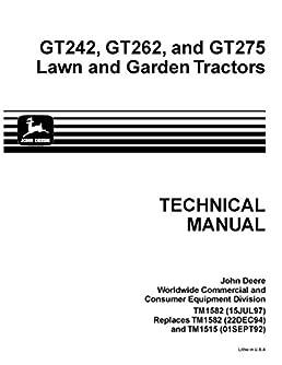 413eJ0knQCL._SX258_BO1204203200_ john deere gt242 gt262 gt275 lawn garden tractor technical service