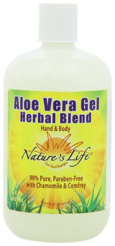 Nature's Life Aloe Vera Gel, Herbal Blend, 16 Ounce