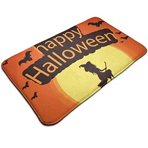 (Etuwdie Happy Halloween Witch Indoor Outdoor Doormat Welcome Doormat Bathroom Mats (Machine-Washable/Non-Slip) 31.5