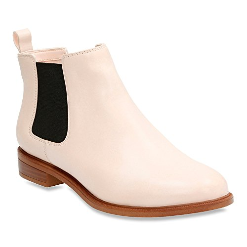 Clarks Donna Taylor Shine Chelsea Boot Nude In Pelle Rosa