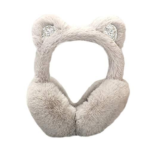 Valentine's Best Gifts!!! Jumberri Winter Warm Women Cartoon Bow Sequins Plush Cat Ears Design Windproof Warm Adjustable Earmuffs