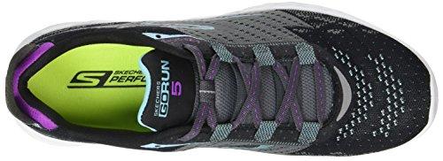 Negro Zapatillas Mujer para Run 5 Bkcc Exterior Skechers Go Deporte de q8twz8B
