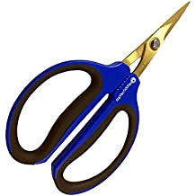 Happy Hydro Titanium Coated 40mm Straight Trimming Scissors or Bonsai Pruning Shears for Grow Room or Gardening