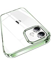 Elando Crystal Clear Case Compatible with iPhone 12/12 Pro, Non-Yellowing Shockproof Protective Phone Case Slim Thin, 6.1 inch