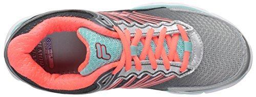 Fila Women's Memory Maranello 5 Running Shoe Metallic Silver/Aruba Blue/Fiery Coral sFLM2bK4
