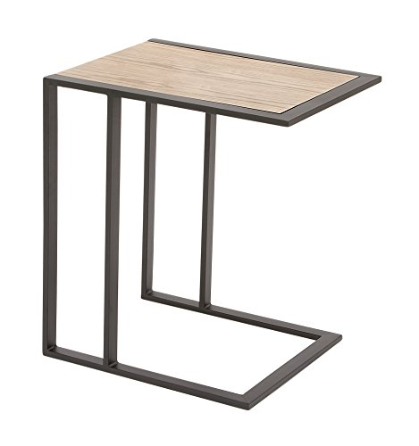 Benzara Charming Metal Wood Side Table by Benzara