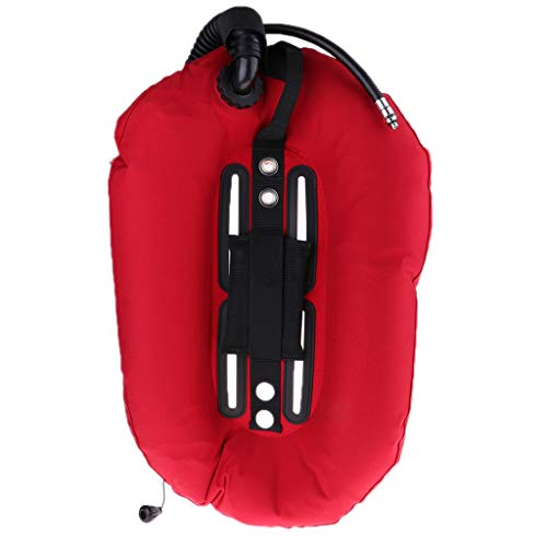 Toygogo Safety Scuba Diving Donut Wing 30lb/13.3kg with Single Tube, Snorkeling BCD Buoyancy Compensator Device for Professional Divers Tech Diving Equipment - Red