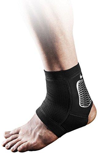 Nike Pro Hyperstrong Ankle Sleeve 2.0, XL, (Black/Metallic Silver/White