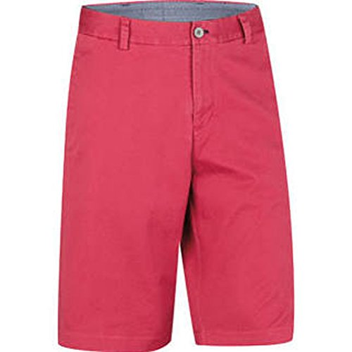 - Ashworth 2015 Men's Solid Cotton Stretch Flat Front Twill Shorts, Flag Red, 42
