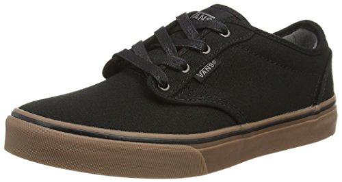 Black Gum (Vans Kids Atwood (10 oz Canvas) Black/Gum Skate Shoe 6 Kids US)