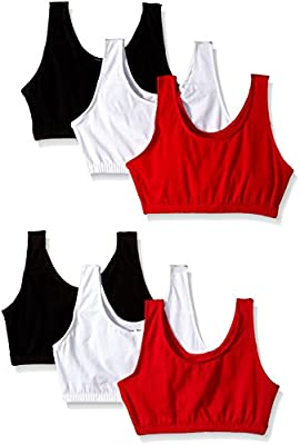 Fruit of the Loom Women's Built-Up Sports Bra (Pack of 6)