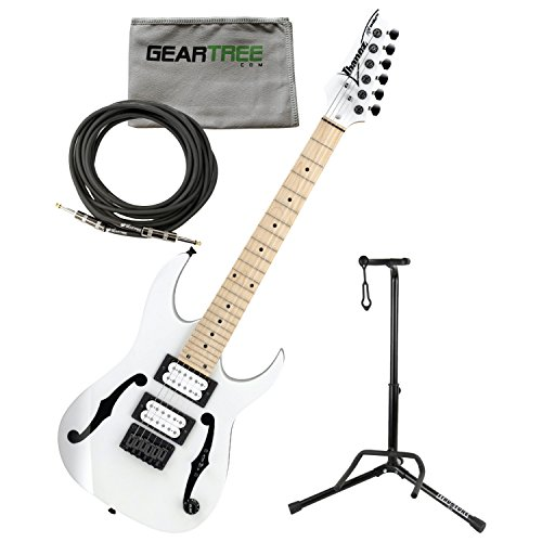 - Ibanez PGMM31WH Paul Gilbert Signature MIKRO Electric Guitar (White) w/Geartree