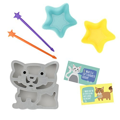 Lunch Punch Sandwich Cutter + Long Food Picks (Fun Lunch Kit) - Cat / Kitten ()