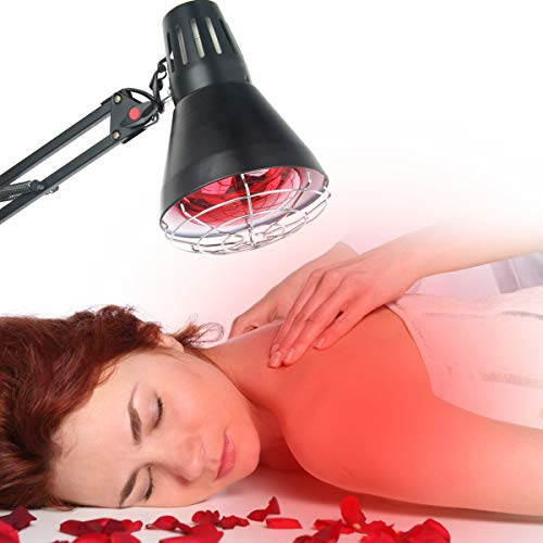 150W Near Infrared Light Red Light Therapy Heat Lamp Set for Body Muscle Joint Pain Relief with Improve Sleep Blood Circulation Finger Back Shoulder Pain Home