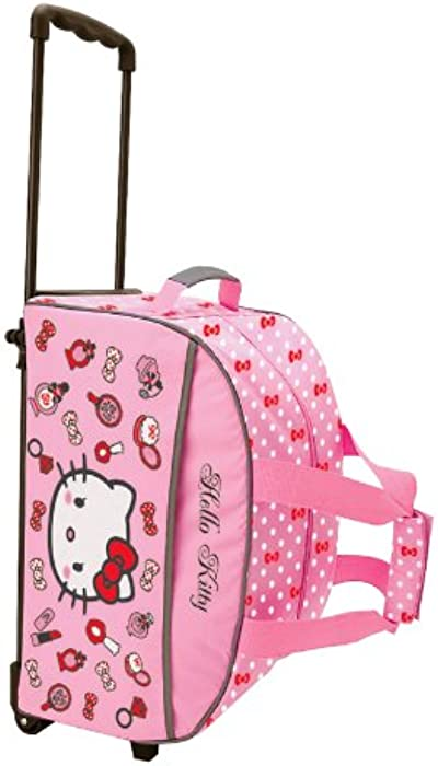 HELLO KITTY COSMETIC ROLLING TRAVEL BAG  Amazon.co.uk  Clothing 0a6a28e9f186b